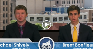 Anchors Michael Shively and Brent Bonfleur