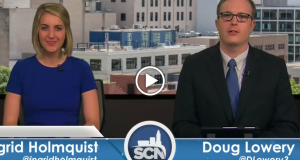 Anchors Ingrid Holmquist and Doug Lowery